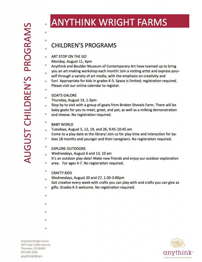 anythink Children's August
